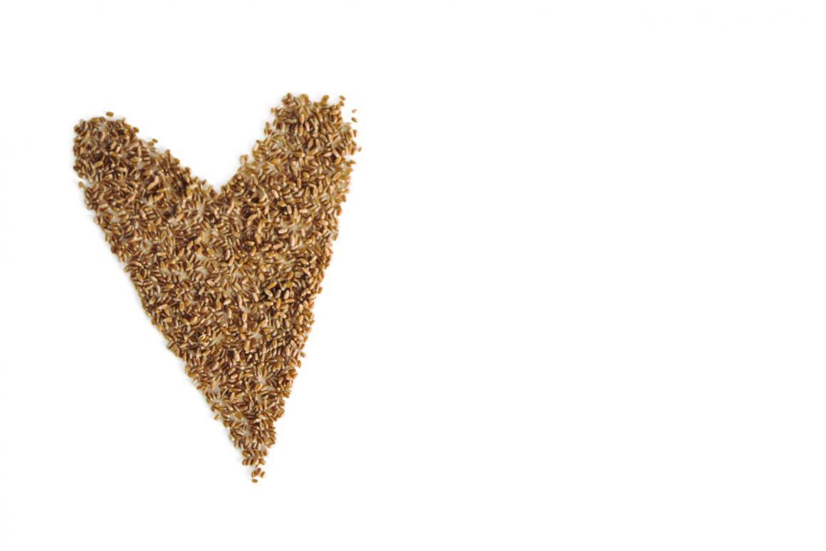 Getreideherz freigestellt