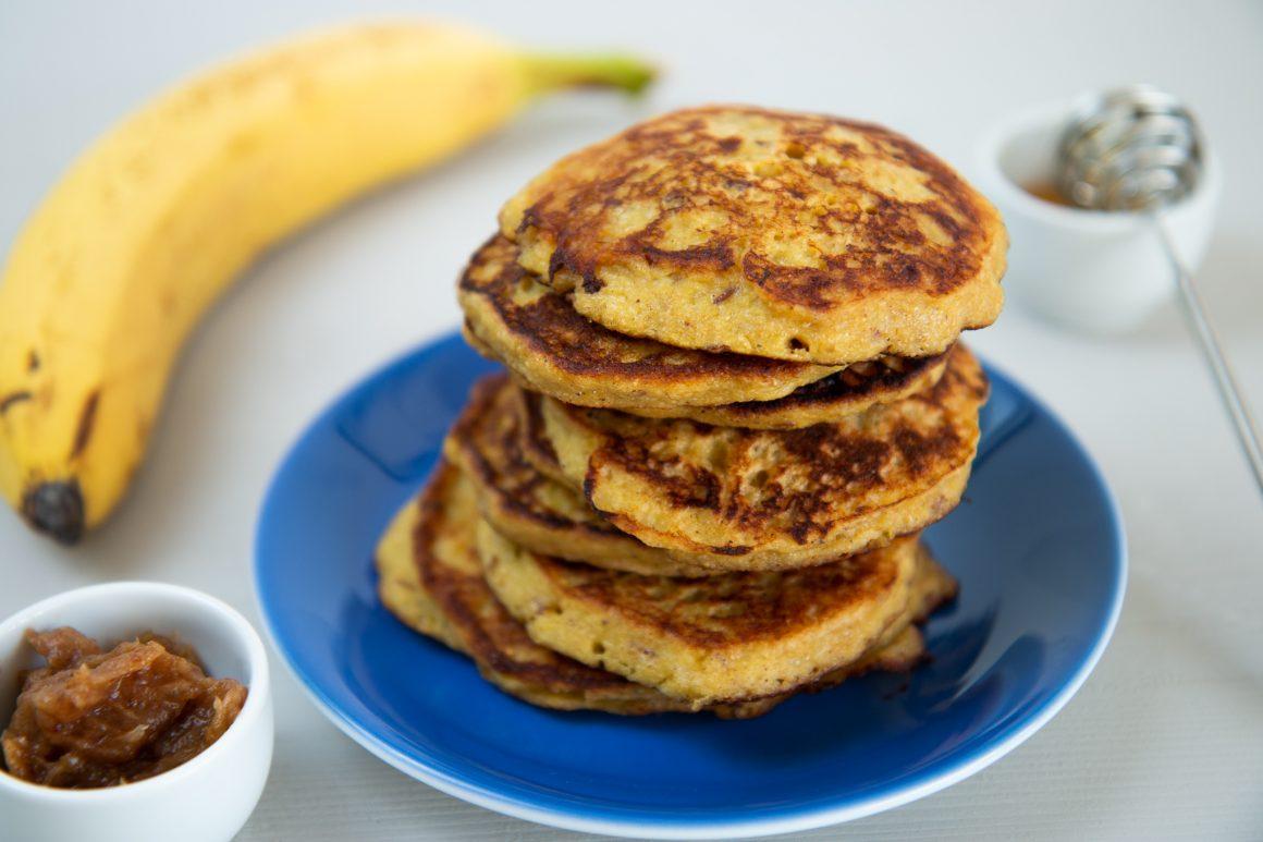 vollwertige Bananenpancakes