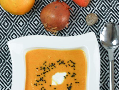 Karotten-Orangen-Kokossuppe