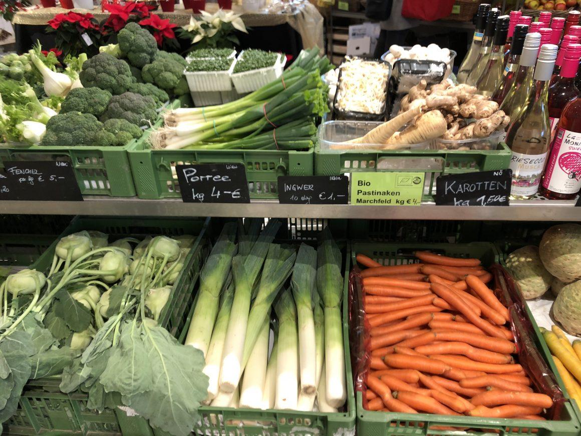 Eine bunte Auswahl an Gemüse